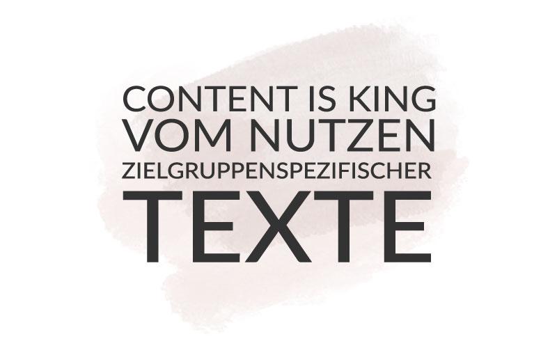 Content Marketing – Nutzen zielgruppenspezifischer Texte