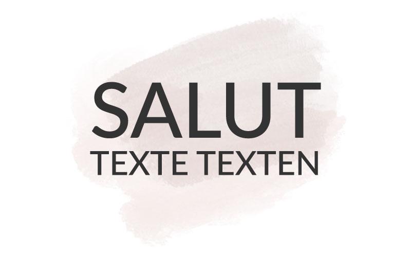 Salut – Texte texten.